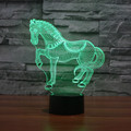 Mudança de 7 cores animal novelty cavalo 3d luz da noite para as crianças Animal IY803406 candeeiro de Mesa Conduziu a lâmpada Lâmpada Led nightlight para presente da criança