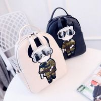 Backpack Female Bag Quality Pu Leather Women Backpack Mickey Ears Sweet Girl Bow College Wind