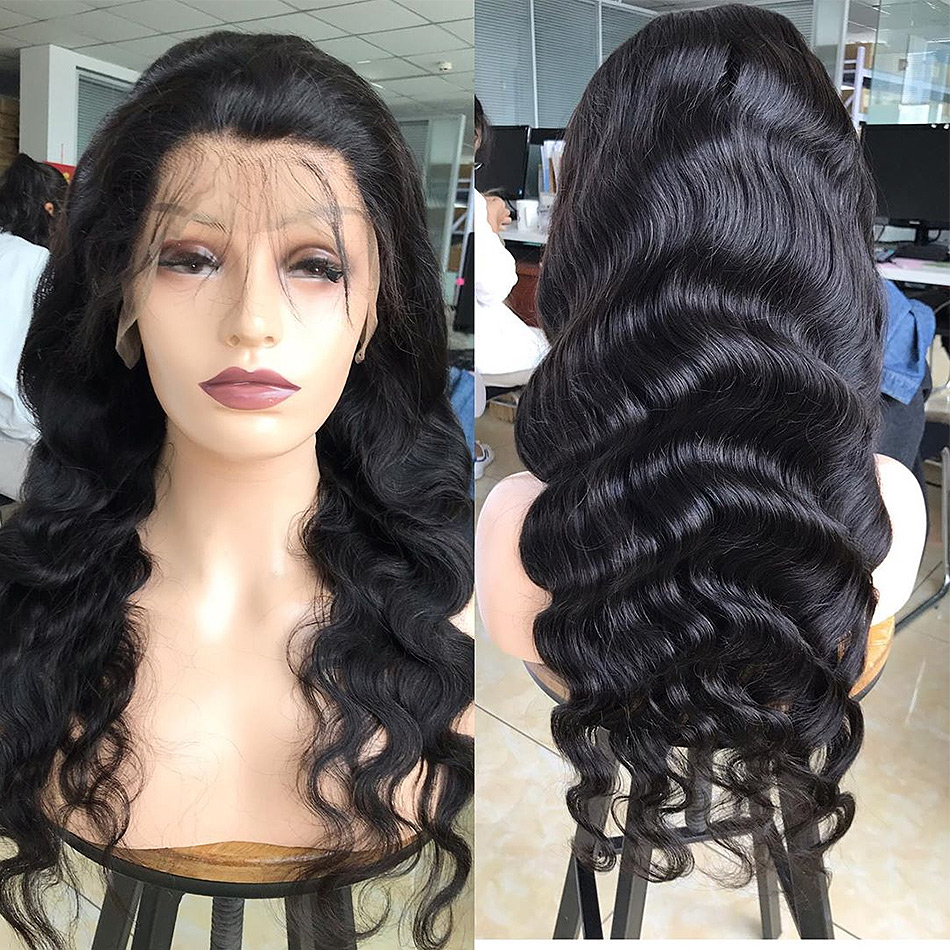 8- 30 34 Inch Glueless 13x6 Lace Front Human Hair Wigs Pre Plucked Brazilian Body Wave Fake Scalp Wigs For Black Women Remy Hair