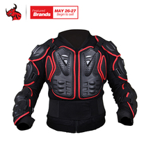 HEROBIKER Motorcycles Armor Protection Motocross Clothing Jacket Protector Motorcycle Full Body Armor Jacket Red