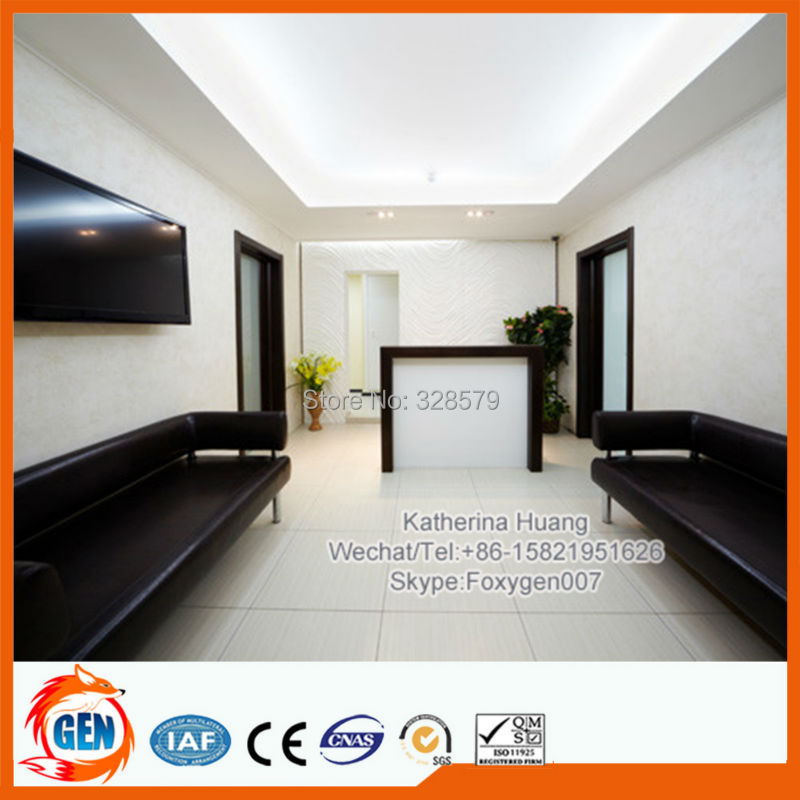 Home and restaurant and shopping center decoration materials pvc stretch ceiling film