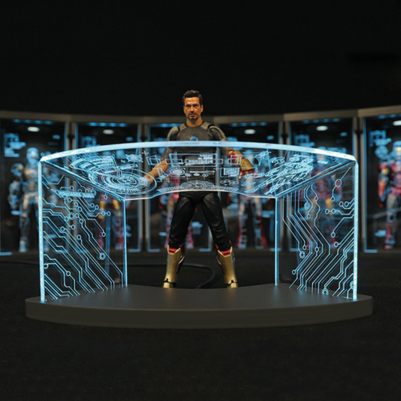 1//12th TOYS-BOX Comicave SHF Iron Man Workshop Scene Test Desk