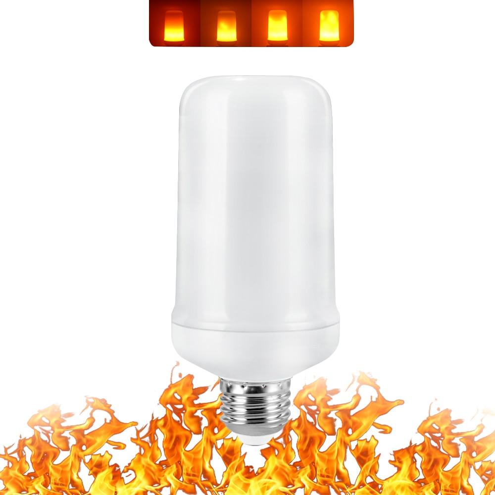 Image 4 - Full Model 3W 5W 7W 9W E27 E26 E14 E12 Flame Bulb 85 265V LED Flame Effect Fire Light Bulbs Flickering Emulation Decor LED Lamp-in LED Bulbs & Tubes from Lights & Lighting