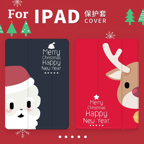 Christmas Elk Magnet PU Leather Case Flip Cover For iPad Pro 9.7 10.5 Air Air2 Mini 1 2 3 4 Tablet Case For New ipad 9.7 2017 leather case flip cover for letv leeco le 2 le 2 pro black