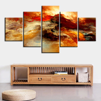 5 Pc Set The Best Warmly T Abstract Cloud NO FRAME Oil Painting Canvas Prints Wall