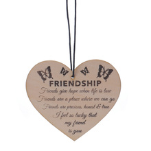 Buy friendship greeting cards and get free shipping on aliexpress wood message card friendship plaque sign best friend gift shabby hanging greeting cards postcards friendship tags m4hsunfo
