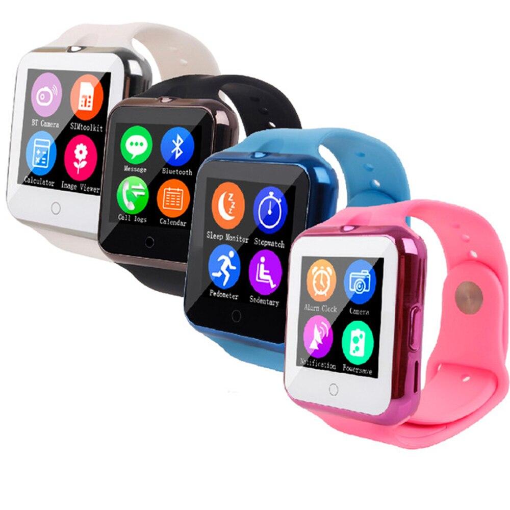 imágenes para V88 Smart Reloj Pulsómetro Pulso Inteligente Smartwatch Bluetooth Con TF Tarjeta SIM GSM Cámara Reloj Para Android Niño