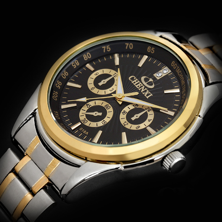 Men Casual Watches Brand CHENXI Steel Band Quartz Wristwatches Fashion Man Business Clock Male Gold Luxury Waterproof Gift Hour ingaart 43 141 фигурка антилопа бронза о бали