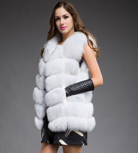 New Best Real Fox Fur Vest Natural Fur Coats For Women Fashion