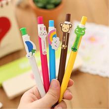 6 Pcs/bag 6 Designs Cute Cartoon Kawaii Novelty Ballpoint Pens Lovely Cat Bird Ball Pen Korean Stationery