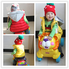 Hot sale! new winter spring girls boys cotton kids vest infant child thickening coat clothes baby girls fur vest