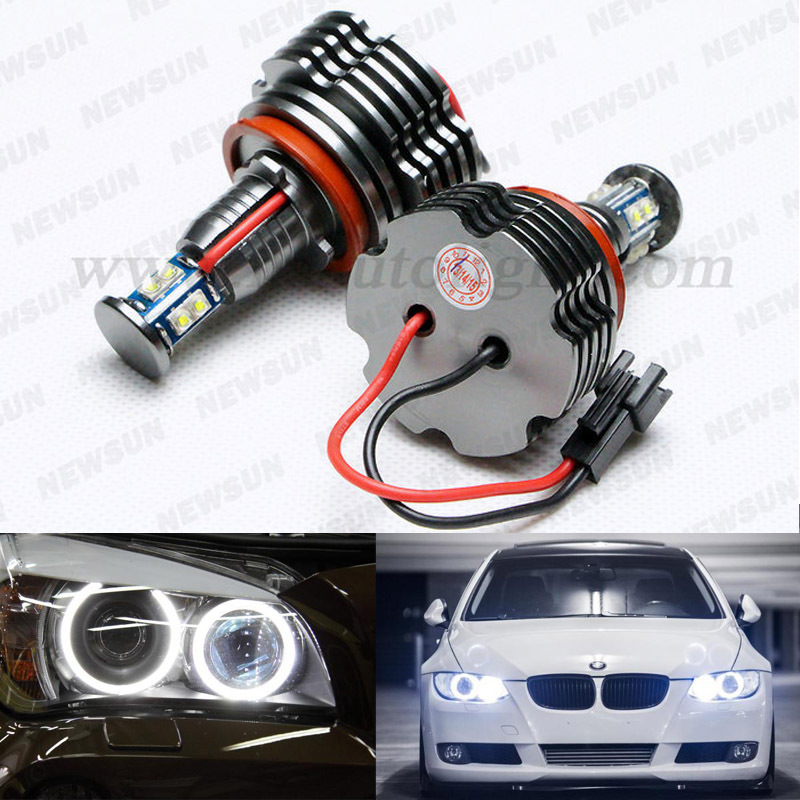 2pcs/set LED marker H8 40W LED angle eyes For BMW X5 E70 X6 E71 E90 E91 E92 M3 E60 E93 canbus H8 Led marker цена