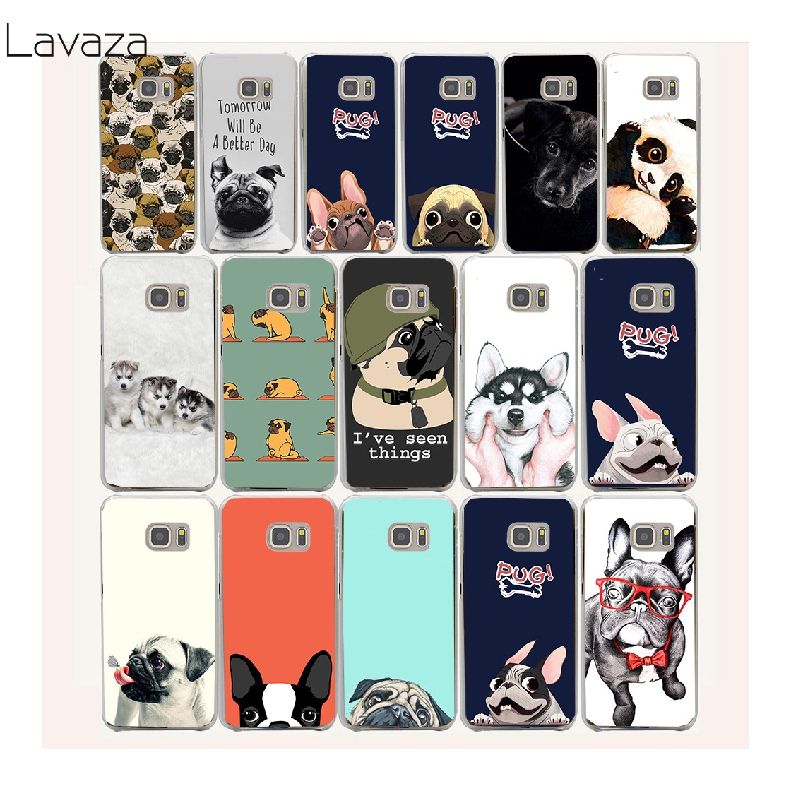 Lavaza 40af funny PUG cute Pet dog Hard Case Cover for Samsung Galaxy S3 S4 S5 Mini S6 S7 S8 S9 Edge Plus Case ...