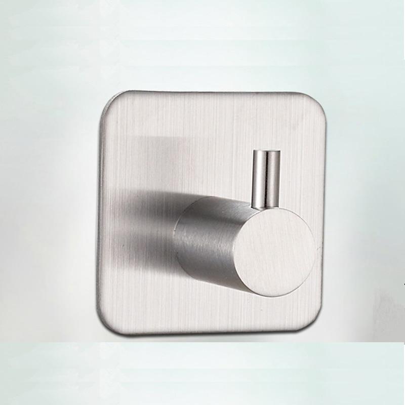 muro del bagno gancio in acciaio inox bastone su adesivo robe asciugamano famiglia robe ganci 1