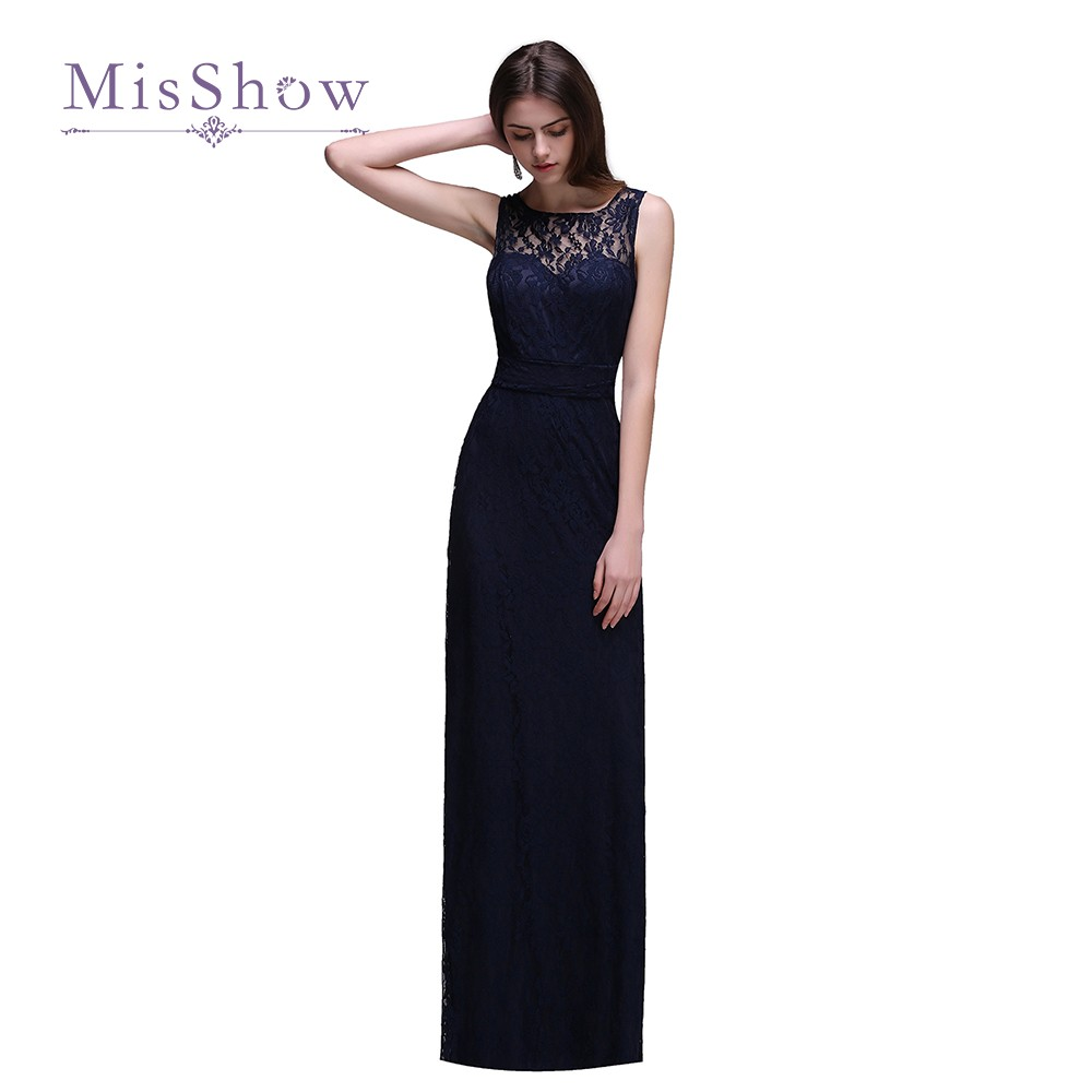 new cheap navy blue lace long bridesmaid dresses 2017 sexy open back wedding guest party dresses