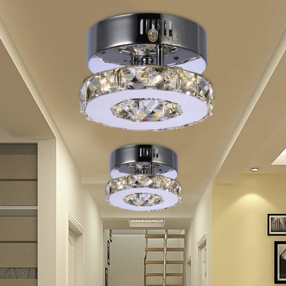 Indoor decorative led ceiling lights wall lamps china led ceiling - Solfart Lamp Ceiling Lights Luminaria Led Crystal Corridor Balcony Small Decorate Ceiling Light Grill Light Led