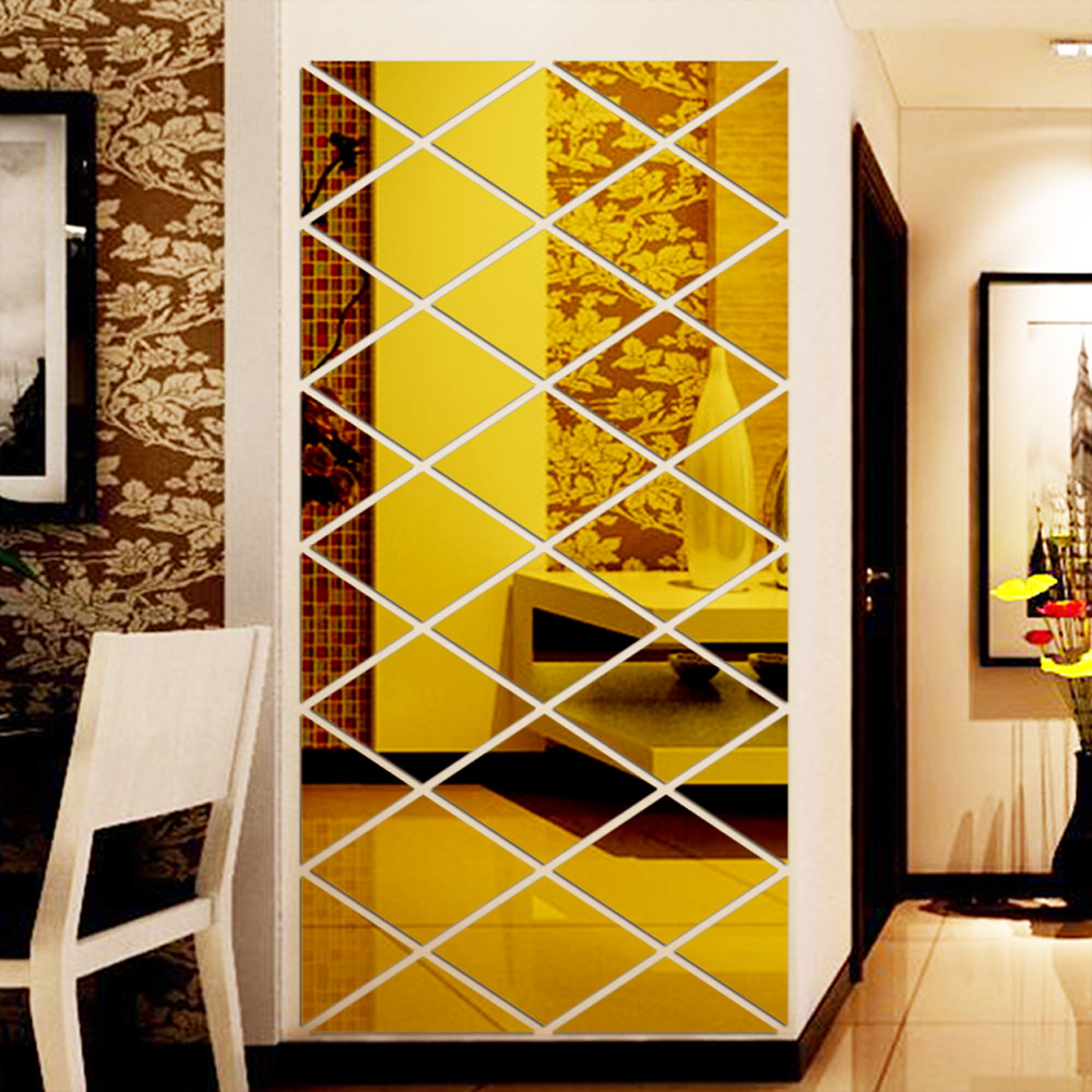 Image 5 - DIY 3D Stickers Mirror Sticker Home Livingroom Decoration Wall Sticker vinilos decorativos para paredes lips sticker wall-in Wall Stickers from Home & Garden