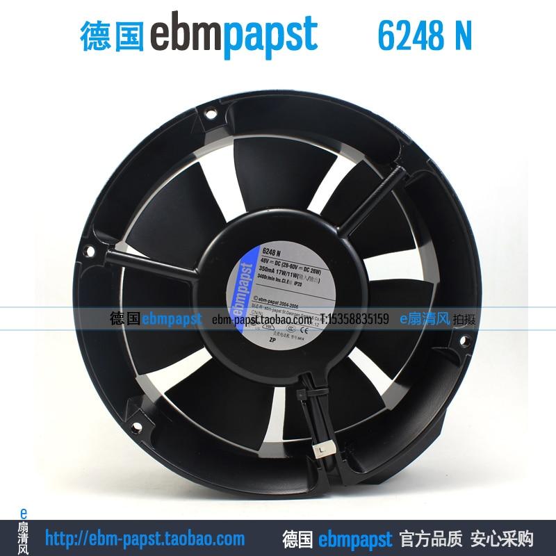 ebm papst 6248N 6248 N DC 48V 0.35A 12W 172x172x51mm Axial Fan new original ebm papst iq3608 01040a02 iq3608 01040 a02 ac 220v 240v 0 07a 7w 4w 172x172mm motor fan
