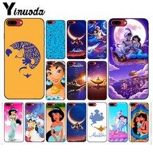 Yinuoda Aladdin and Jasmine cartoon Adorable Phone Case for iPhone 8 7 6 6S Plus X 5S SE 5C xr xs max 11 11pro case