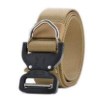Mondo Più Forte D-Ring Cintura Tattica, Stile militare Tessitura Riggers Belt Web con Heavy-Duty a Sgancio Rapido Fibbia In Metallo