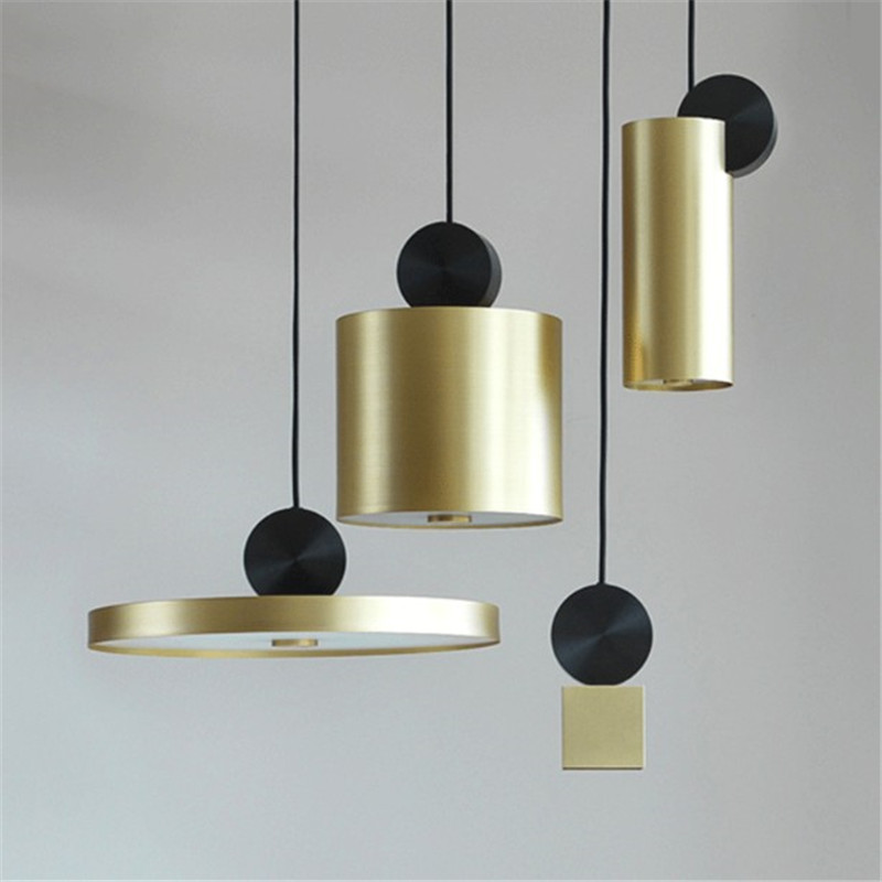 Nordic post-modern led pendant light restaurant bar clothing store cafe model room lighting fixture simple gold metal lampNordic post-modern led pendant light restaurant bar clothing store cafe model room lighting fixture simple gold metal lamp
