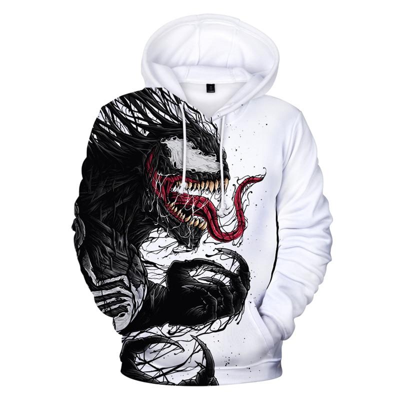 2019 venom hoodie men 39 s 3D print hoodies sweatshirt men and women hip hop clothing sweatshirt For men 4XL in Hoodies amp Sweatshirts from Men 39 s Clothing