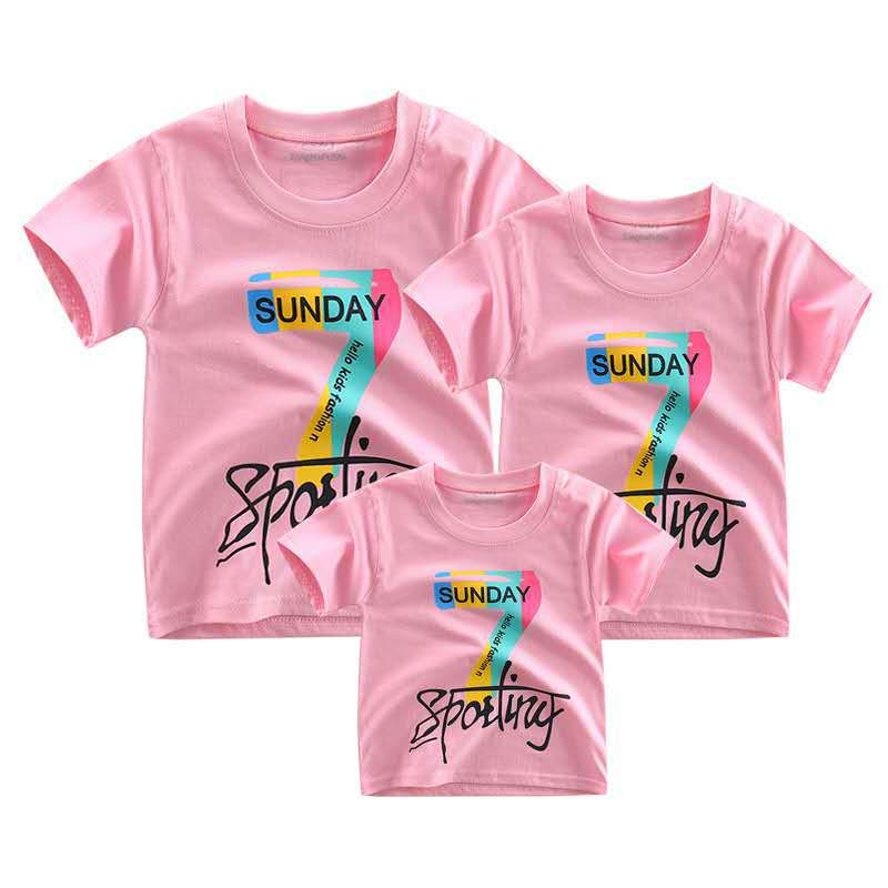 2019 new summer season household matching garments T-shirt cotton mom and daughter t-shirt prime household matching outfits t shirt Matching Household Outfits, Low cost Matching Household Outfits, 2019 new...