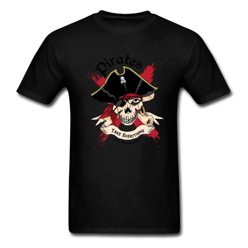 Family PIRATE Normal Short Sleeve T Shirt Lovers Day O-Neck Cotton Fabric Tops T Shirt for Boys T Shirt Casual PIRATE black