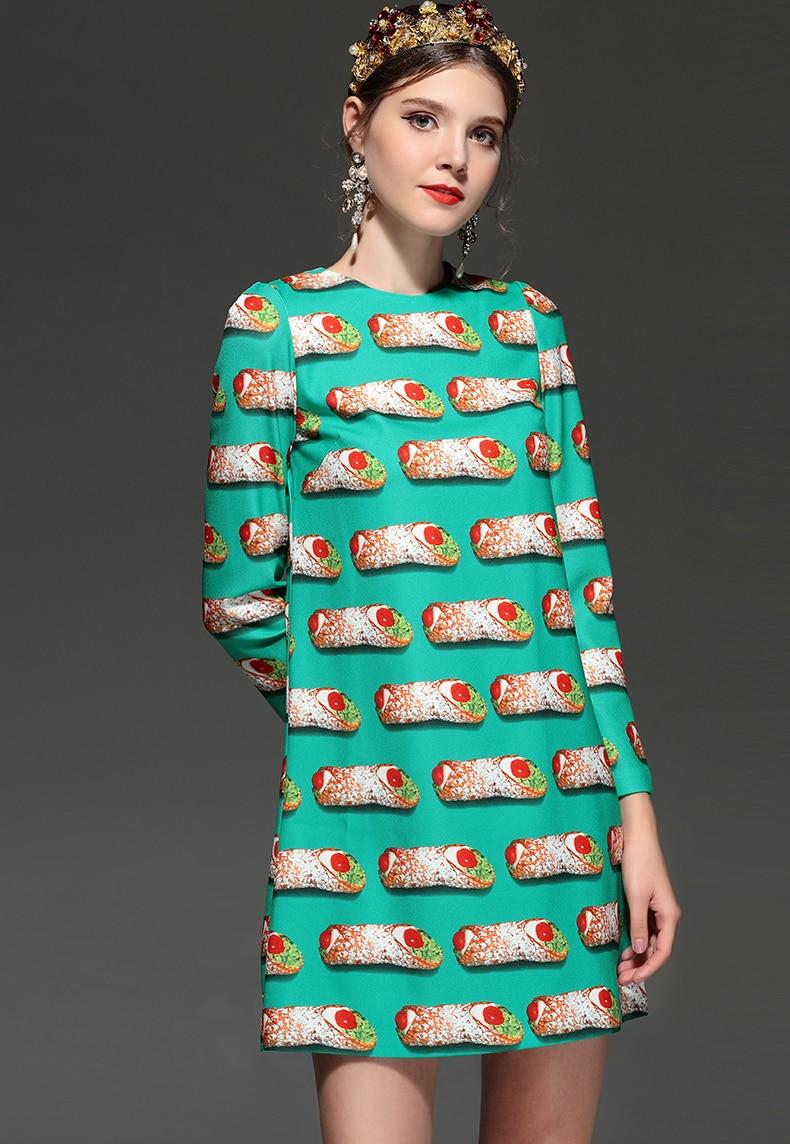 t Modedesigner Plus L 2018 ssig Neue Hamburger Anpassen Frauen Kleid Hohe Gerade Print Qualit Track Langarm Size PXZNwk8nO0