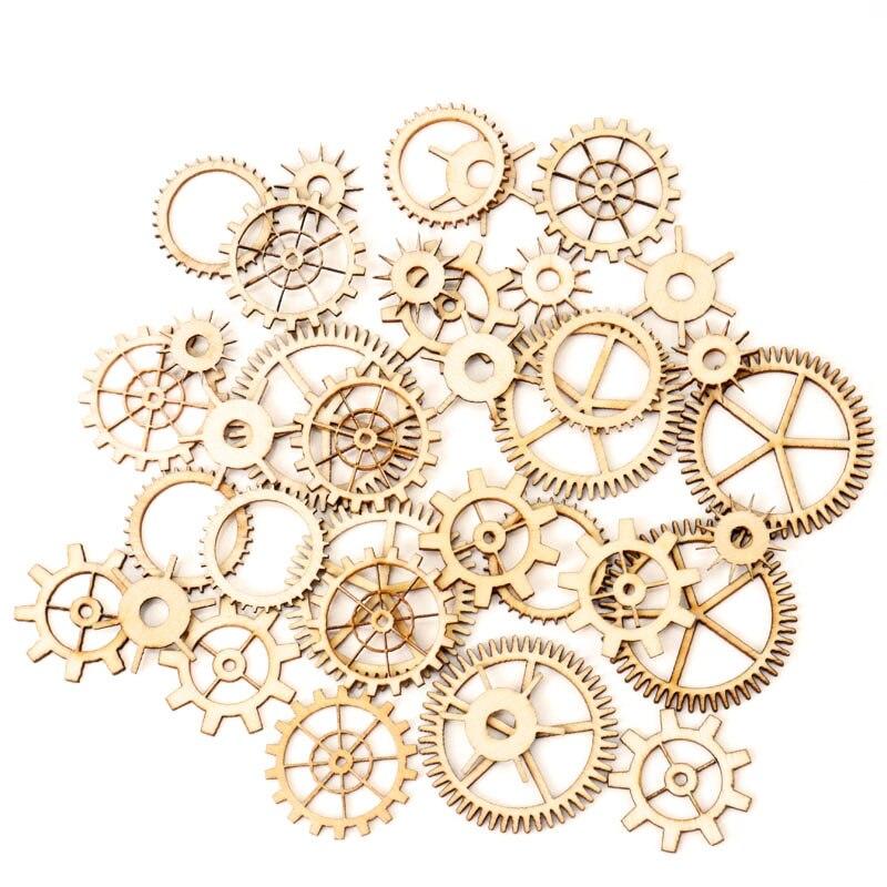 Mixed-Wheel-Gear-Pattern-Natrual-Wooden-Scrapbooking-Hollow-Craft-Round-Random-for-Handmade-Home-Decoration-20