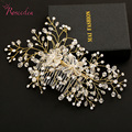 2016 New Arrivel Handmade Rhinestone Clear Crystal Bridal Hair Accessories Luxury Bridesmaid Jewelry Hair Pins Hair Combs RE291