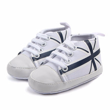 44042df74f316 Nouveau-né infantile bébé Union Jack drapeau impression toile anti-dérapant  doux chaussures Sneaker