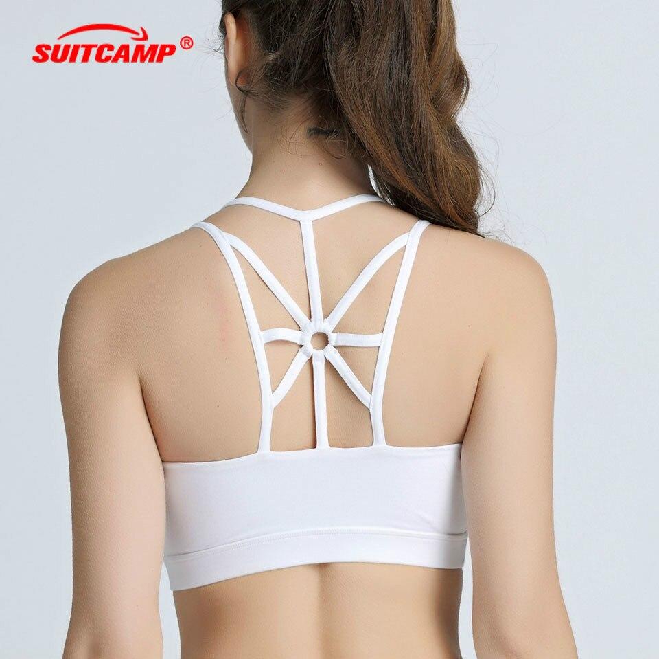 Fashion Women Yoga Sports Jogging Bra Crop Top Vest Stretch Breathable Bras DS