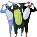 19 Style Winter Flannel Cartoon Animal Pajamas for Adults Unisex Cosplay Hood Onesies Panda Stitch Sleepwear Kigurumi Pajama Set