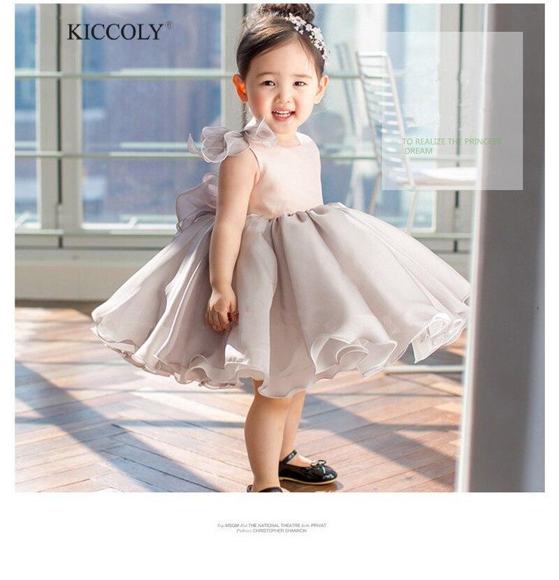 2017 New Summer Baby Girl Dress Sleeveless 6m-24m Baby Girls Birthday Dresses Big Bow Vestido Infant baptism Christening dresses 6 size new 2014 summer baby