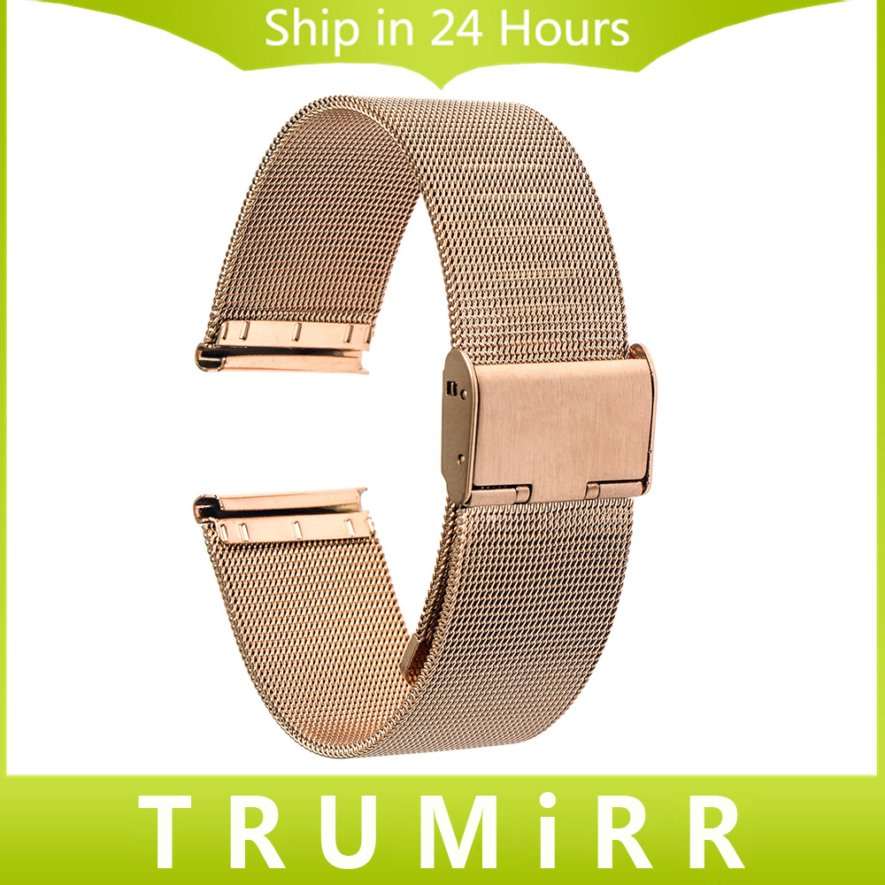 22mm Milanese Stainless Steel Watch Band Bracelet Strap for Moto 360 2 46mm 2015 Samsung Galaxy Gear 2 R380 Neo R381 Live R382 2017 new stainless steel bracelet strap watch band milanese magnetic with connector adapter for samsung gear s2 watch band
