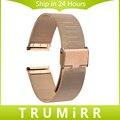 22mm milanese pulseira relógio banda de aço inoxidável cinta para moto 360 2 46mm 2015 samsung galaxy gear 2 r380 neo r381 ao vivo R382
