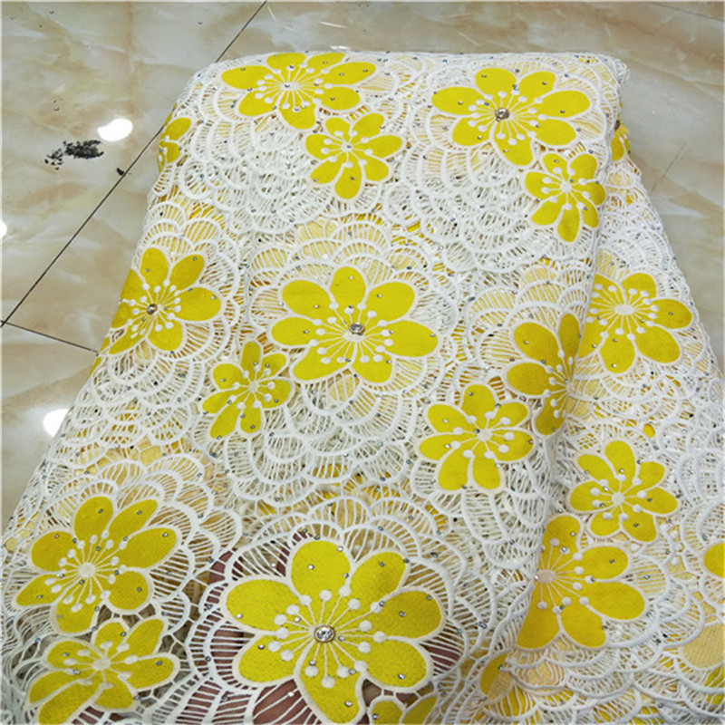New Design African Swiss Voile Lace High Quality New Arrivals African Lace Fabric Tulle With Stones