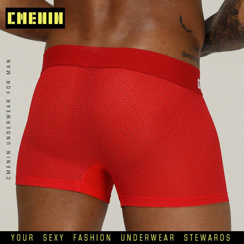 ORLVS סקסי בוקסר גברים זכר תחתוני אלסטי רחב חגורת גברים Underpant מוצק כותנה תחתוני דגם מתאגרף סקסי בתוספת גודל מתאגרפים OR207