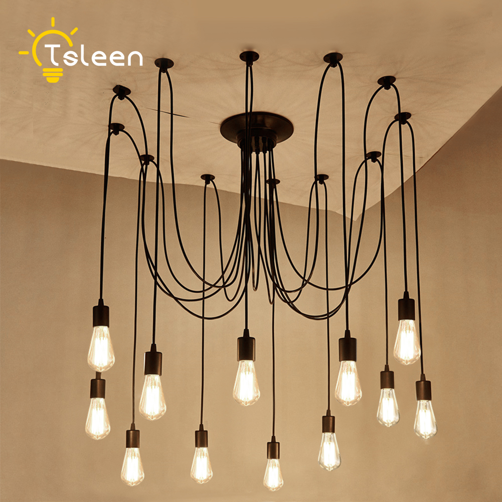 TSLEEN Free Shipping! Vintage Loft Nordic Classic E27 E26 LED Retro Edison Bulb Pendant Lights Ceiling Golden Light Fixtures tsleen free shipping vintage loft nordic classic e27 e26 led retro edison bulb pendant lights ceiling golden light fixtures