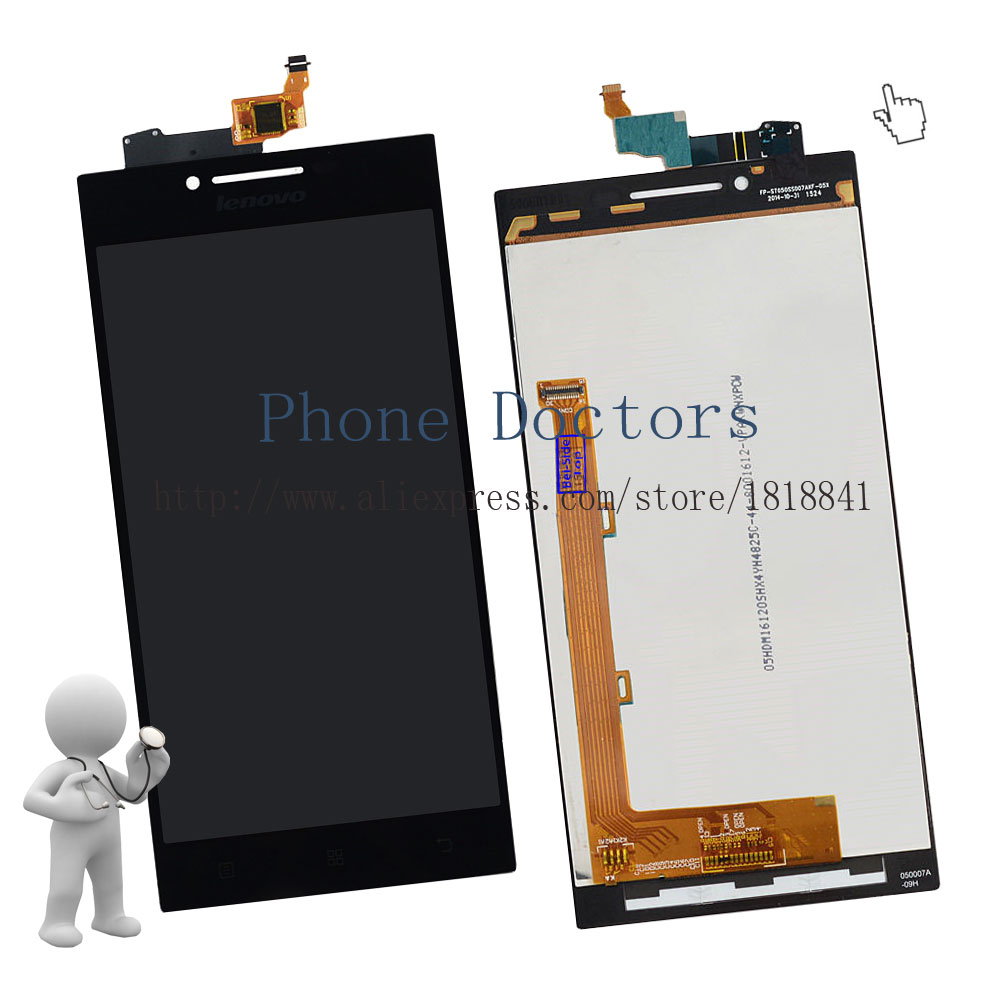 imágenes para 5.0 ''full lcd + pantalla táctil digitalizador asamblea reemplazo para lenovo p70 lte; negro; nuevo; 100% Probado