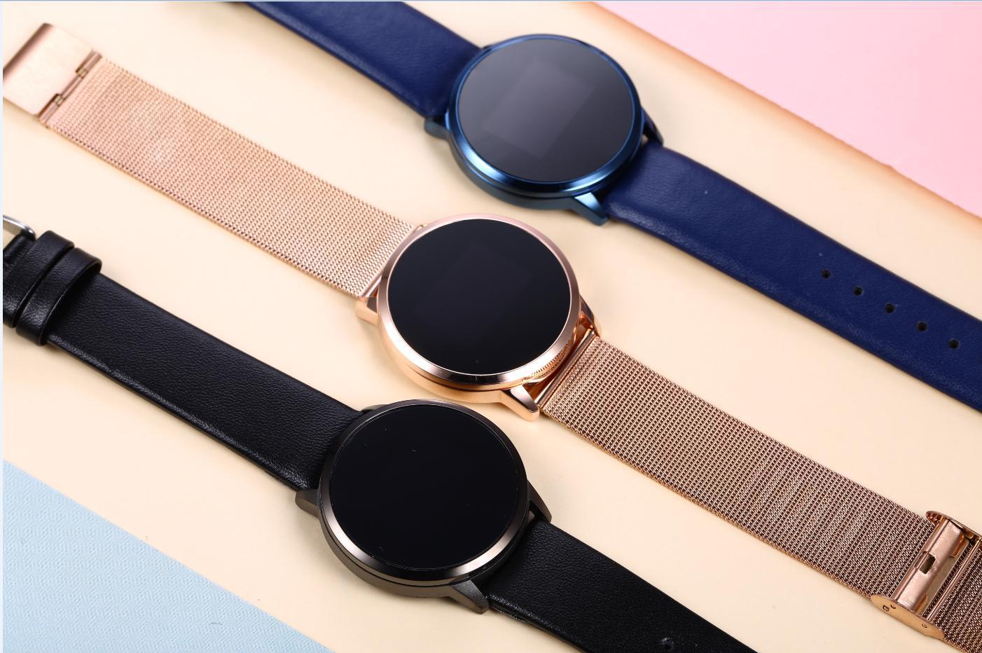 2019 nova q8 relógio inteligente tela colorida oled smartwatch moda feminina rastreador de fitness monitor de freqüência cardíaca