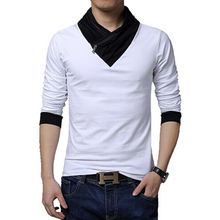 free shipping 2015 spring male casual sweater colorant match turtleneck slim long sleeve sweater outerwear Free shipping M-5XL
