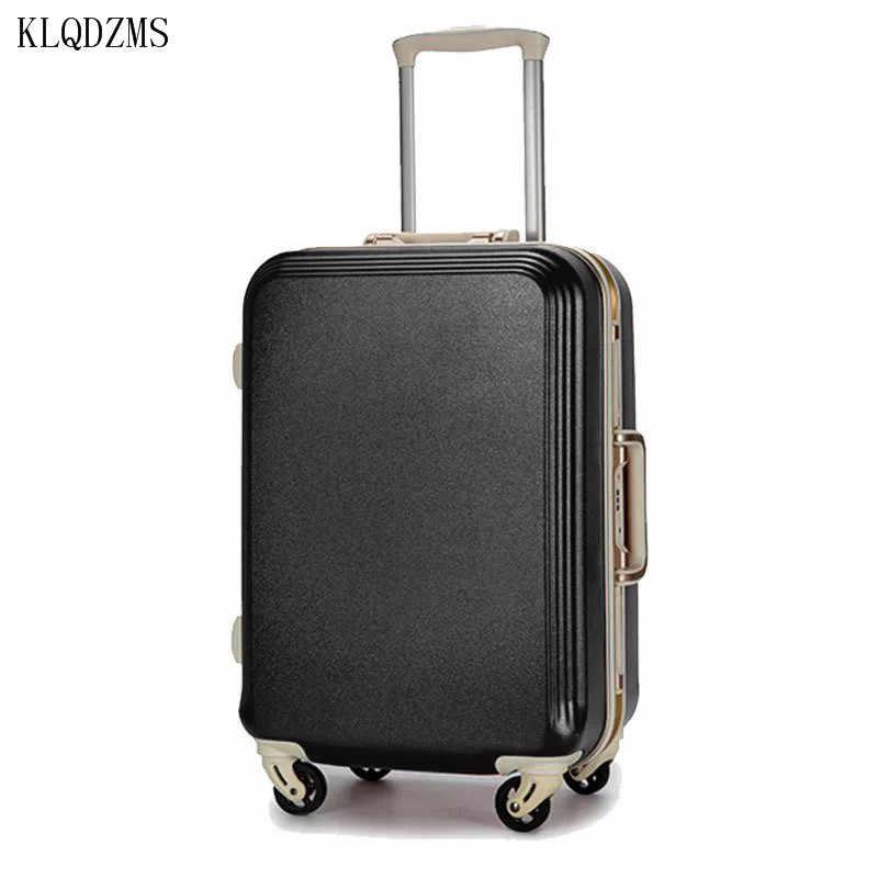 KLQDZMS 20/22/24/26/28 cal wysokiej jakości ABS + PC Rolling bagażu lekki podróży walizka na kółkach