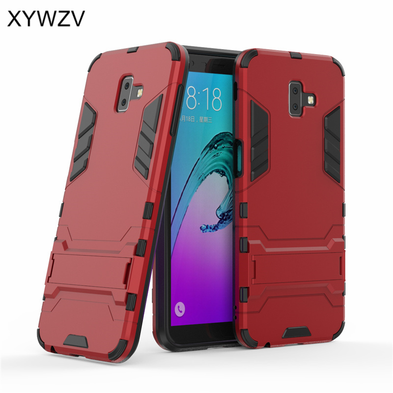 For Samsung Galaxy J6 Plus Case Armor Rubber Phone Cover Back J600G J610