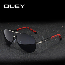 OLEY Brand Men Vintage Aluminum Polarized Sunglasses Classic Pilot Sun glasses Coating Lens Shades For Men/Wome Full set of box