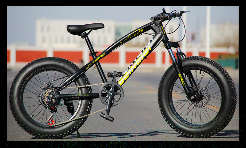 HTB1468JShTpK1RjSZFKq6y2wXXaf KUBEEN mountain bike 21 speed 2.0 inch bicycle Road bike Fat Bike Mechanical Disc Brake Women and children bicycles