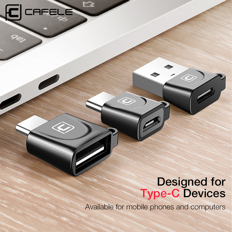 Cafele USB Type C OTG Adapter Micro USB to Type C / Type-C to USB 2.0 Adapter USB C Converter OTG Adapter joflo 2pcs mini usb to mirco usb otg convert connector fast charge adapter