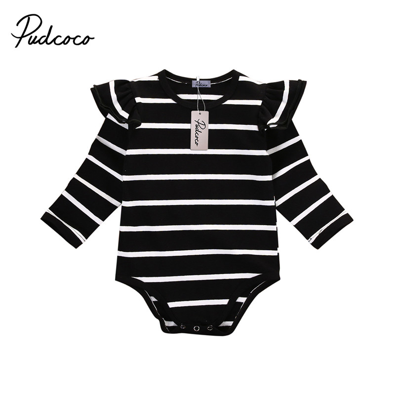 e48153e337de Newborn girl Autumn Spring Clothes Baby girl One Pieces Child Baby girl Long  Sleeve Striped Bodysuit Cotton Body Suit | Emma Grace
