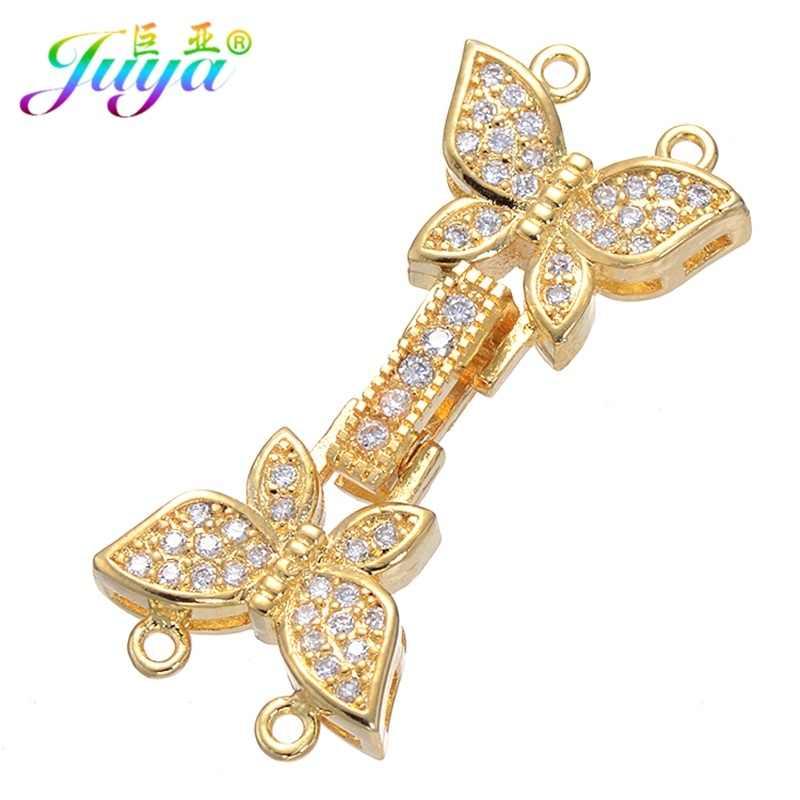 8f78ee8e5b6c Juya Ali Moda hecho a mano anillos de salto mariposas cierre para las  mujeres abalorios piedras